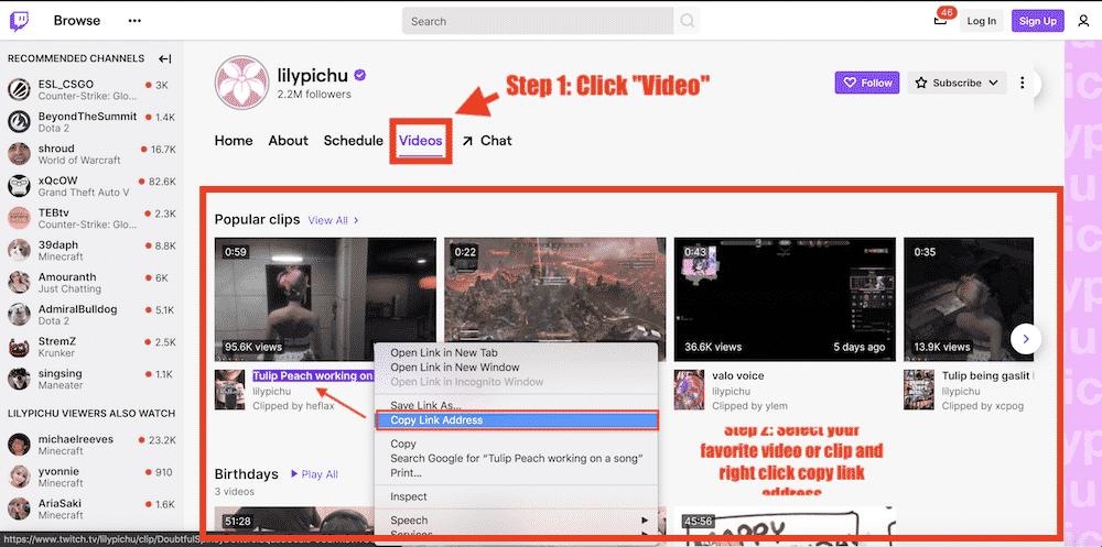step 1 twitch clip downloader