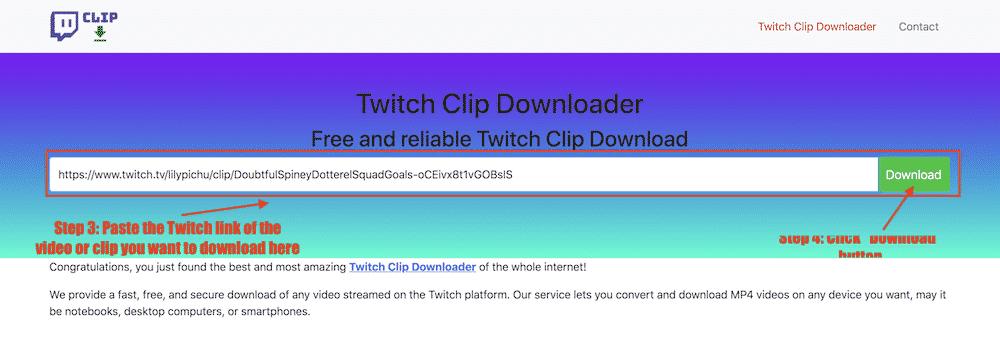 step 2 twitch clip downloader