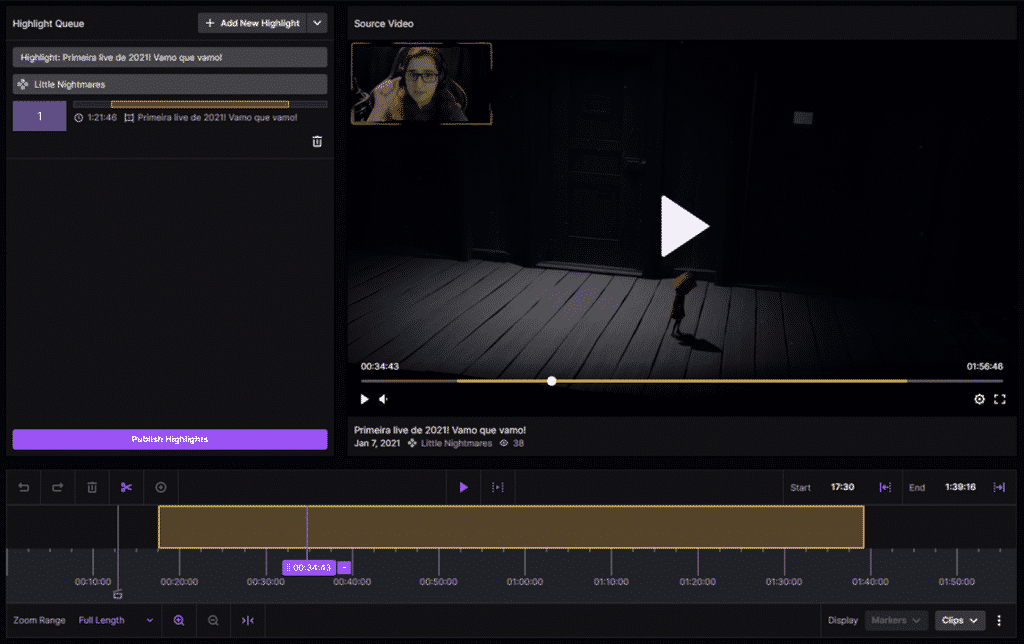 How to create highlights on Twitch