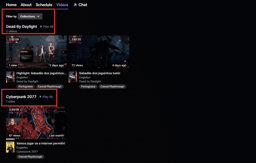 How to Create Video Collections on Twitch
